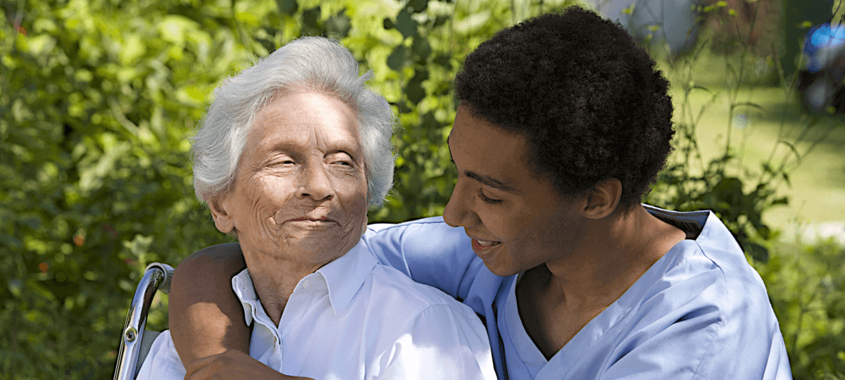 Elders with caregivers