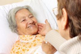 elderly person smiling