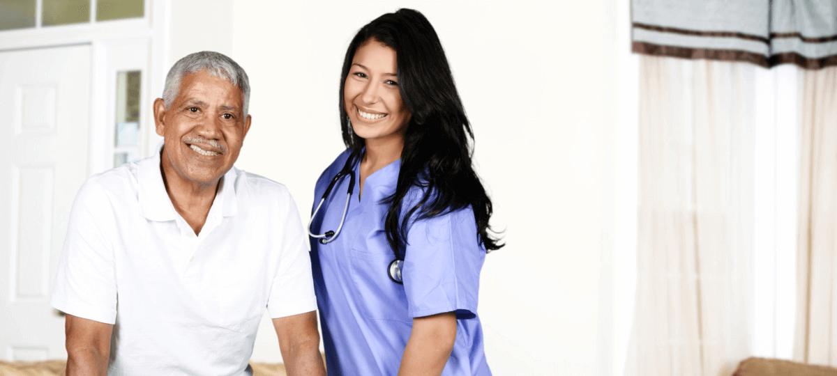 elder with caregivers